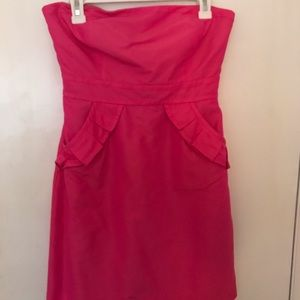 J Crew Strapless Pink Dress